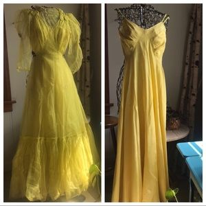 30s / 40s vintage gown
